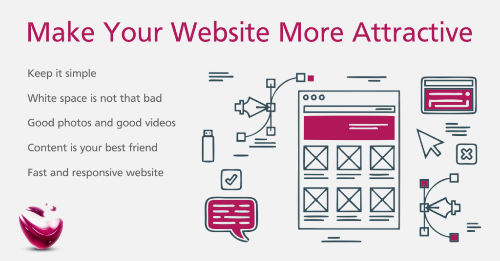 make your website more attractive